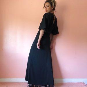H&M Plunging Neckline Maxi Dress